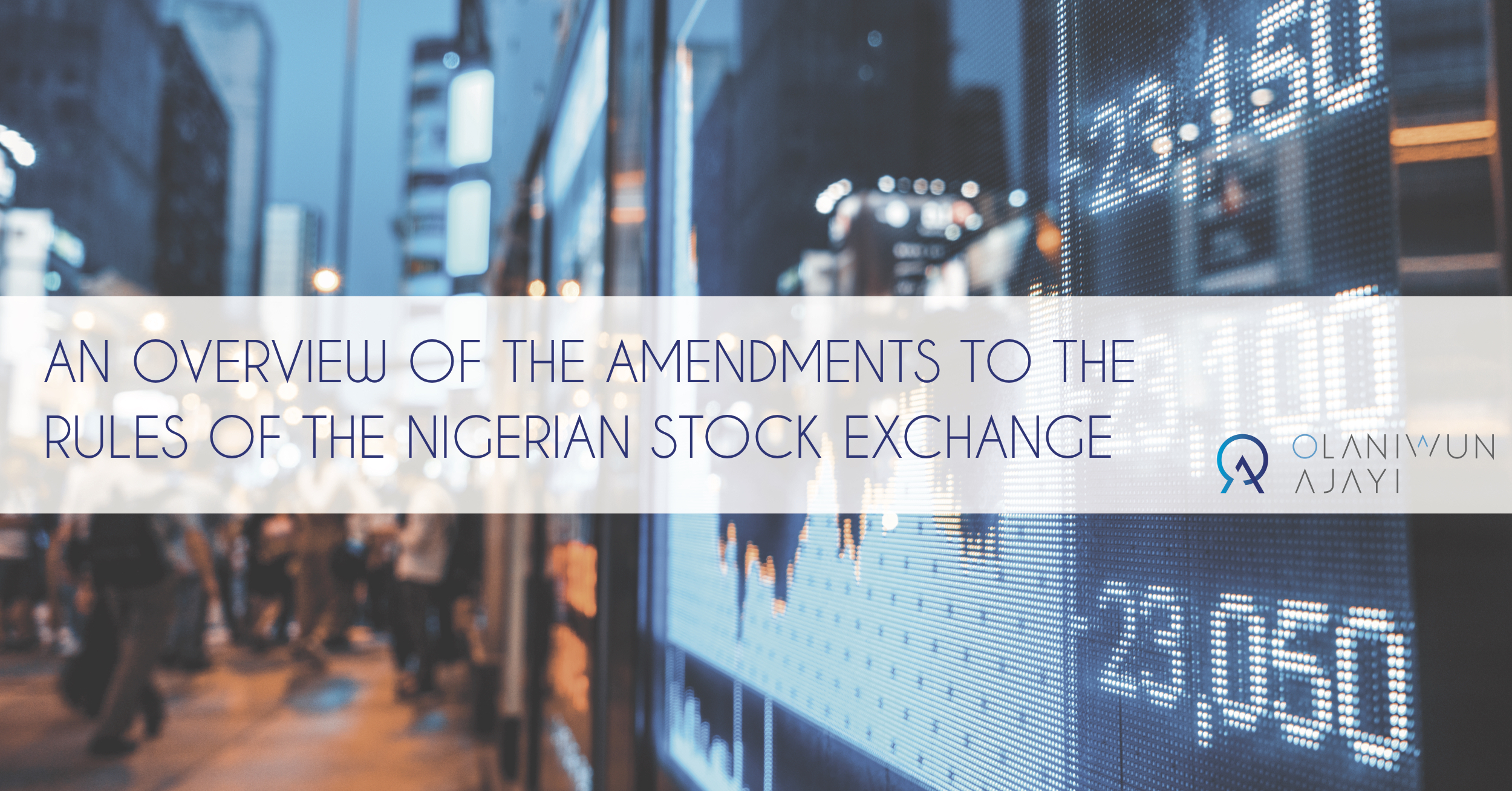 New Rules Of The Nigerian Stock Exchange The Estero