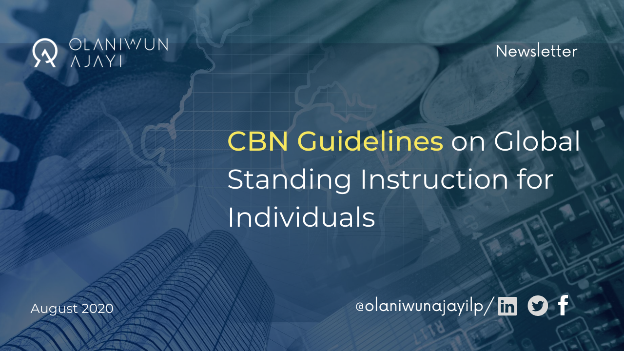 CBN Guidelines on Global Standing Instruction for Individuals | The Estero